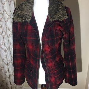 Mens Padded Shirt Hooded Fleece Top Full Front Zip Closure Lumberjack Jacket Co Uk Clothing
